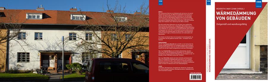 """Foto Hufeisensiedlung in Berlin-Britz und das Fachbuch """"Wärmedämmung von Gebäuden"""""""